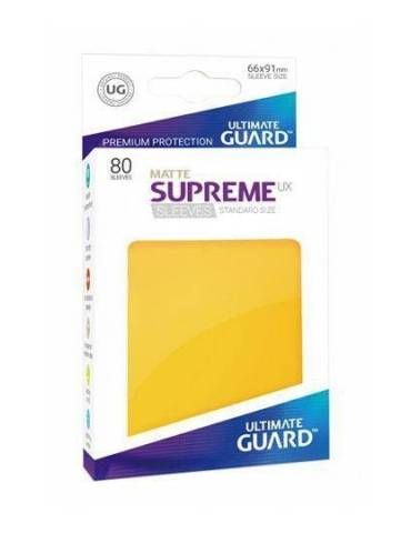 Fundas Ultimate Guard Supreme UX Mate Color Amarillo (80 unidades)