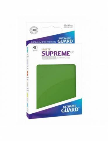 Fundas Ultimate Guard Supreme UX Mate Color Verde (80 unidades)