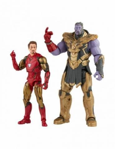 Pack de 2 Figuras The Infinity Saga Marvel Legends Series 2021: Iron Man & Thanos (Endgame) 15 cm