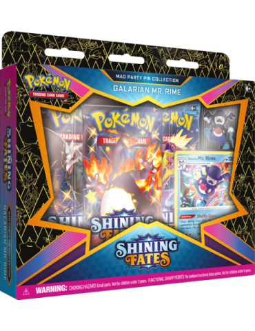 Pokémon TCG: Shining Fates Mad Party Pin Collection - Galarian Mr. Rim
