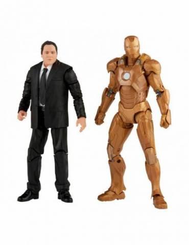 Pack de 2 Figuras The Infinity Saga Marvel Legends 2021: Happy Hogan & Iron Man (Iron Man 3) 15 cm