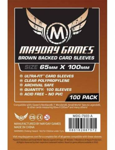 Fundas Mayday Magnum Ultra-Fit 7 Wonders Brown Backed 65x100 (100 unidades)