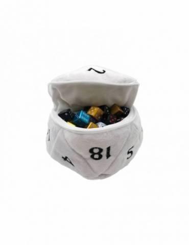 Bolsa para dados Ultra Pro D20 Plush Dice Bag: White