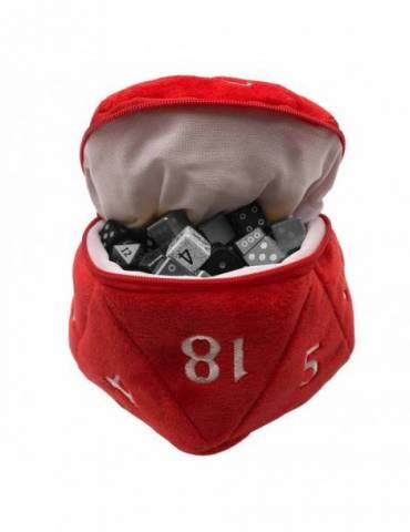 Bolsa para dados Ultra Pro D20 Plush Dice Bag:  Red