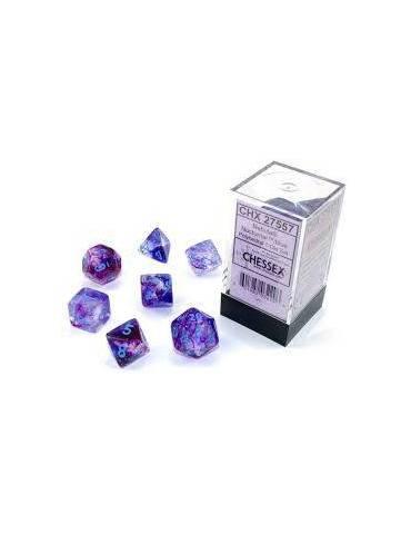 Dice Set Nebula Poly Noctum/Blue Lum (7)