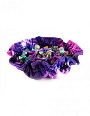 Velvet Compartment Dice Bag with Pockets: Nebula