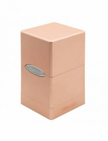 Deck Box Satin Tower Metallic Rose Gold
