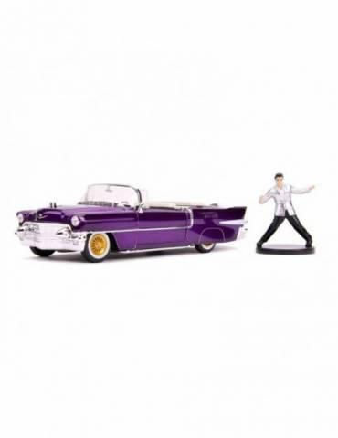 Vehículo Elvis Presley: 1/24 Hollywood Rides 1956 Cadillac Eldorado con Figura