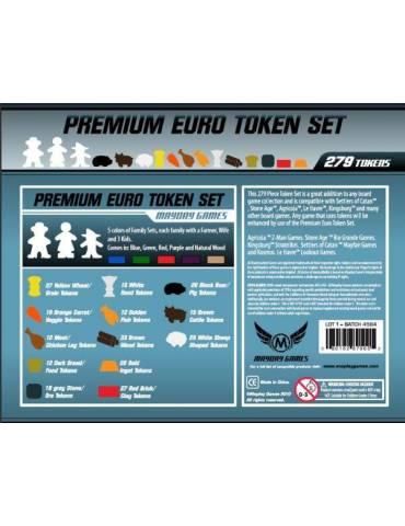 Game Accessories Premium Euro Token Boxed Set 279 Pcs