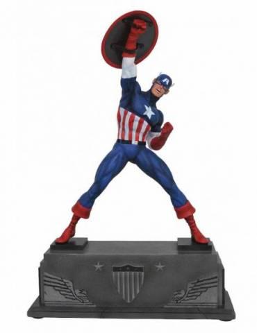Estatua Marvel Premier Collection: Capitán América 30 cm
