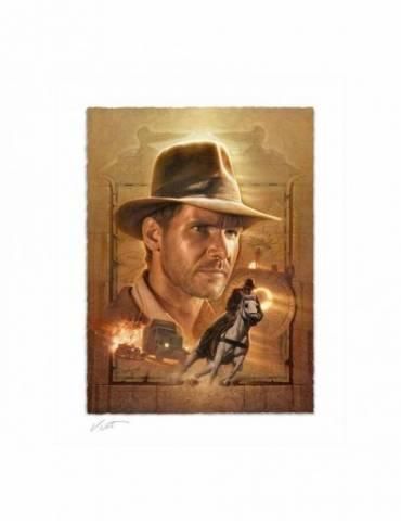 Litografía Indiana Jones: Pursuit of the Ark 46 x 58 cm (Enmarcado)
