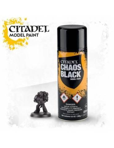 Pintura en Spray Citadel: Chaos Black