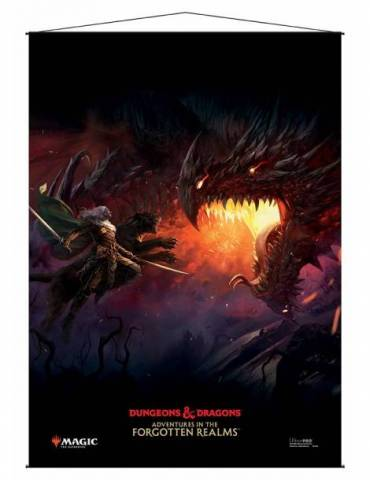 Wall Scroll Ultra Pro: Adventures in the Forgotten Realms V1 - Drizz't Key Art for Magic